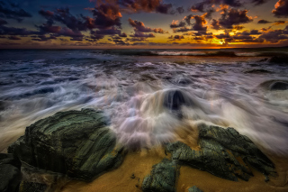 Seashore with big stones UHD - Fondos de pantalla gratis