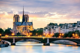 Kostenloses Notre Dame de Paris Catholic Cathedral Wallpaper für HTC Wildfire