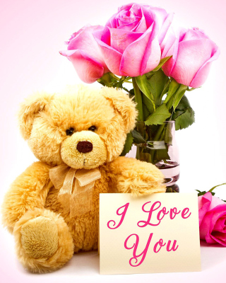 Valentines Day, Teddy Bear sfondi gratuiti per iPhone 4S