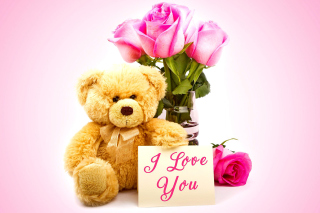 Valentines Day, Teddy Bear Background for Android, iPhone and iPad