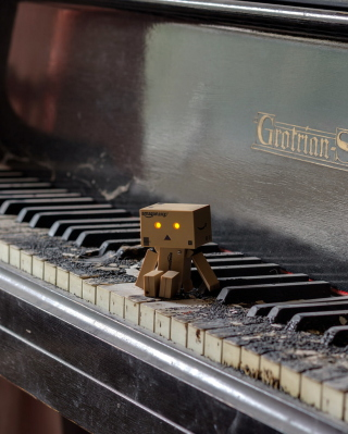 Danbo Pianist Wallpaper for Nokia Asha 503