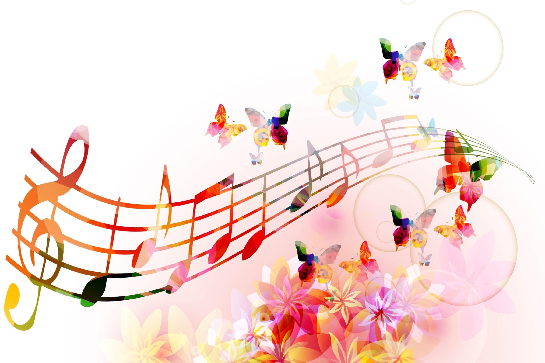 Фоны для открыток музыкальные
