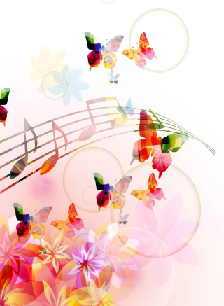 Rainbow Music Wallpaper for Nokia Asha 503