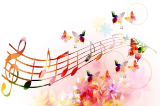 Rainbow Music Background for 1024x600