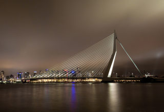 Erasmus Bridge Rotterdam Wallpaper for Android, iPhone and iPad