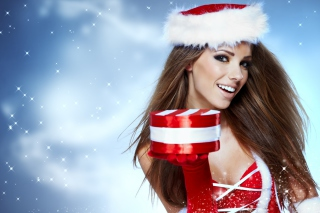 Beautiful Santa Girl - Fondos de pantalla gratis
