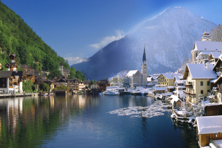 Hallstatt in Austria Picture for Android, iPhone and iPad
