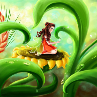 Free Fairy Girl Picture for 208x208