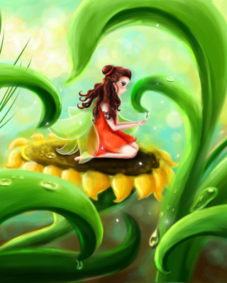 Fairy Girl Background for HTC Titan