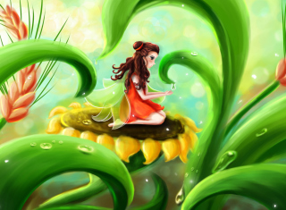 Fairy Girl Wallpaper for HTC Wildfire