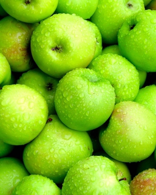 Green Apples Background for Nokia C5-06