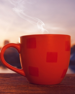 Good Morning with Coffee Wallpaper for Nokia C2-02