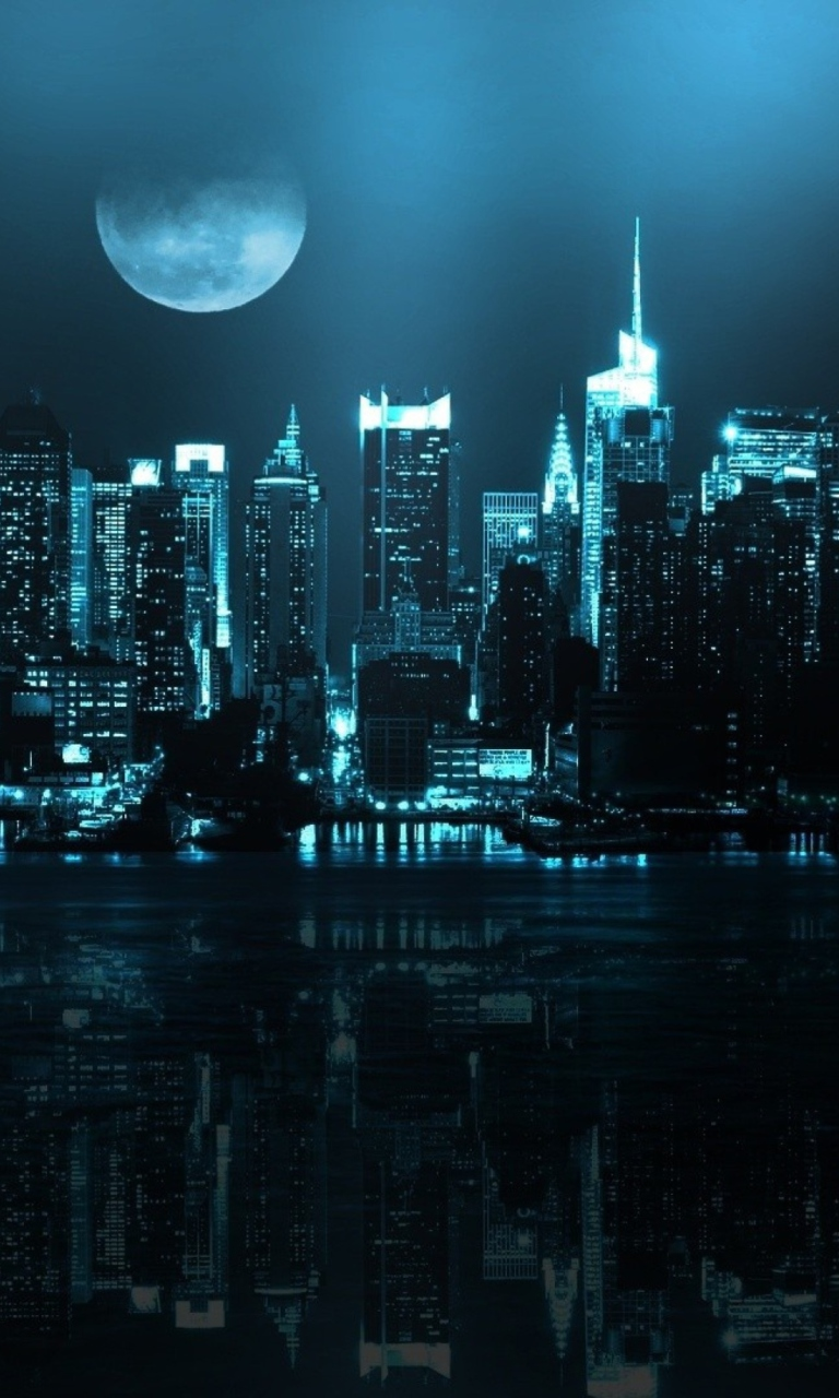 Screenshot №1 pro téma City In Moonlight 768x1280