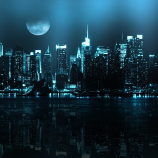 City In Moonlight - Fondos de pantalla gratis para iPad