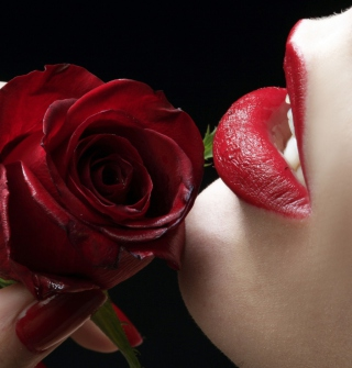 Red Rose - Red Lips - Fondos de pantalla gratis para iPad Air