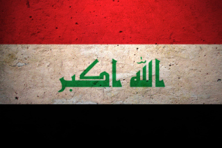 Grunge Flag Of Iraq Background for Android, iPhone and iPad