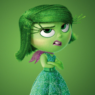 Disgust from Inside Out Cartoon - Obrázkek zdarma pro iPad