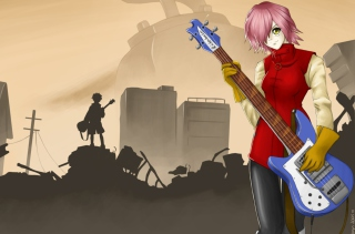 Haruko Background for Android, iPhone and iPad