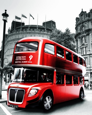 Double Decker English Bus Wallpaper for iPhone 6 Plus