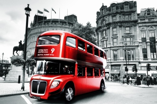 Double Decker English Bus Wallpaper for Android, iPhone and iPad
