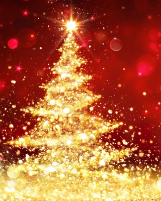 Christmas Tree Backdrop Wallpaper for Nokia 5800 XpressMusic
