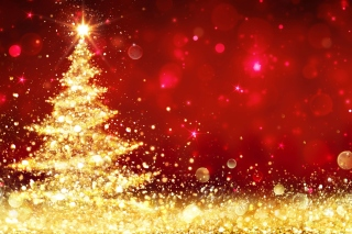 Christmas Tree Backdrop Wallpaper for 1152x864