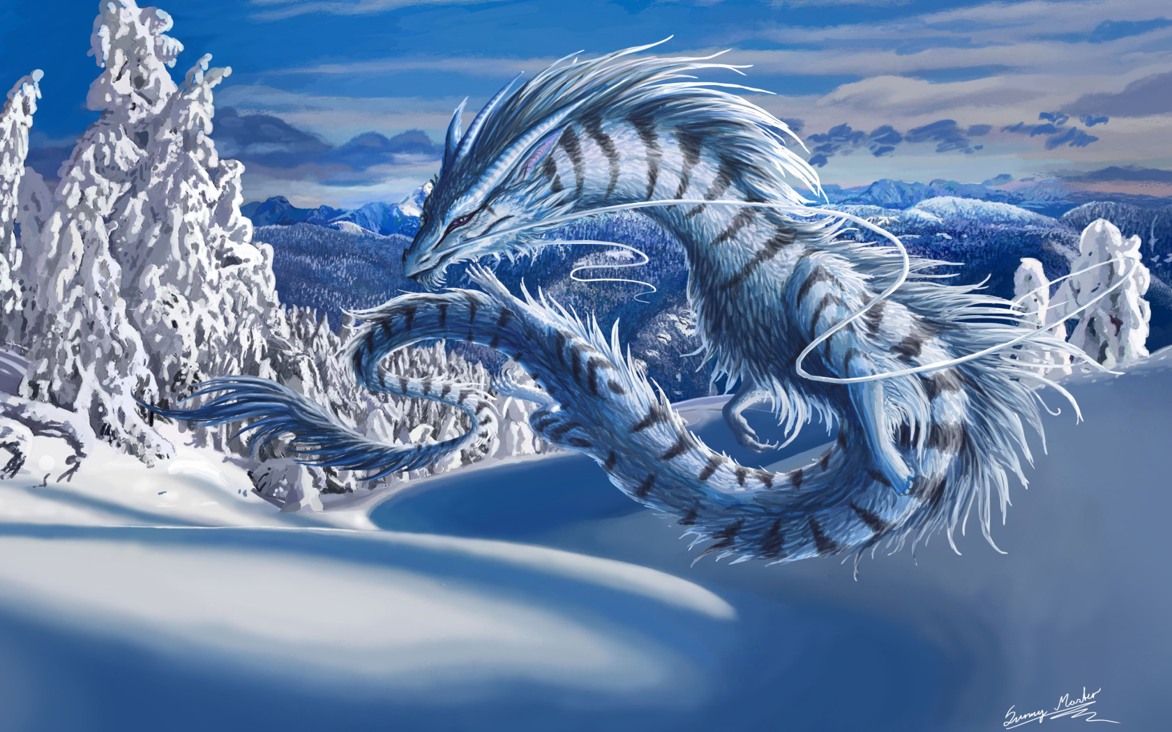 Screenshot №1 pro téma Winter Dragon 1680x1050