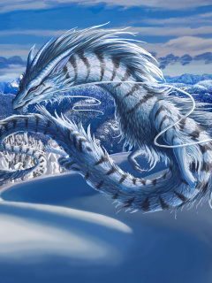 Screenshot №1 pro téma Winter Dragon 240x320