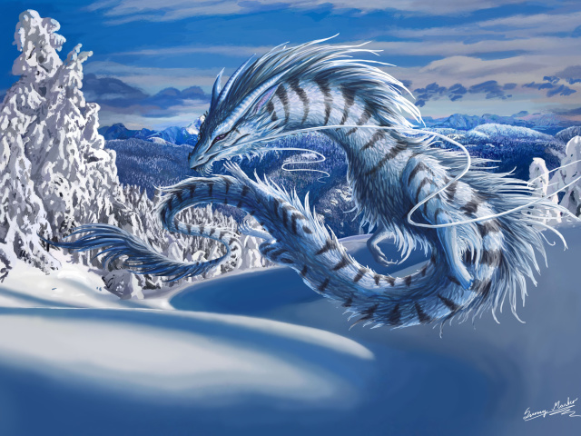 Screenshot №1 pro téma Winter Dragon 640x480