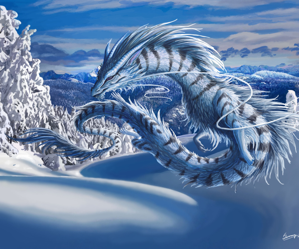 Screenshot №1 pro téma Winter Dragon 960x800
