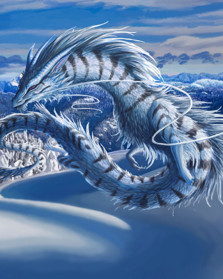 Winter Dragon sfondi gratuiti per iPhone 5