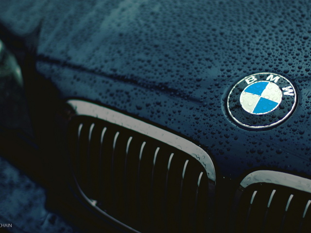 Screenshot №1 pro téma Bmw Logo after Rain 640x480