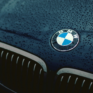 Bmw Logo after Rain - Fondos de pantalla gratis para iPad mini