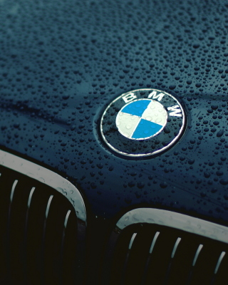 Bmw Logo after Rain Background for HTC Titan