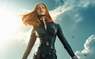 Kostenloses Black Widow Captain America The Winter Soldier Wallpaper für Fullscreen Desktop 1280x1024