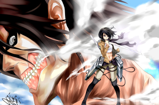 Mikasa Ackerman from Attack on Titan Wallpaper for Android, iPhone and iPad