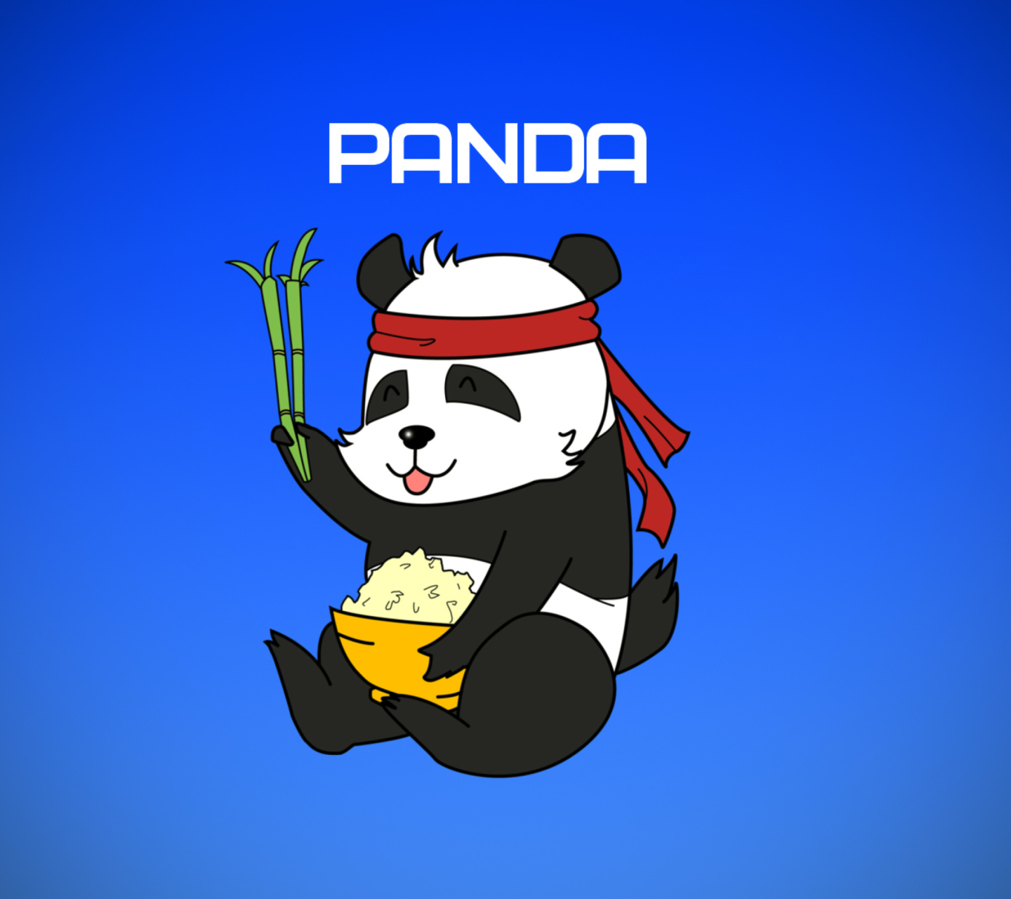 Sfondi Cool Panda Illustration 1440x1280