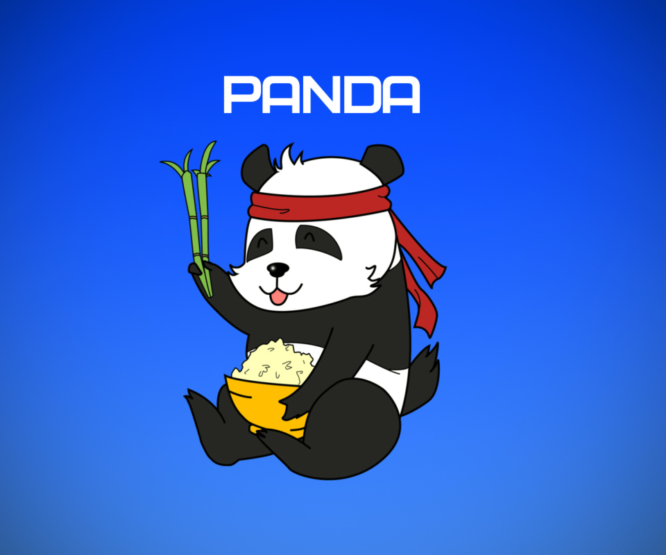 Sfondi Cool Panda Illustration 960x800