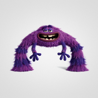 Monsters University, Art, Purple Furry Monster - Obrázkek zdarma pro iPad 2
