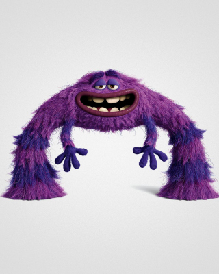 Free Monsters University, Art, Purple Furry Monster Picture for iPhone 6 Plus
