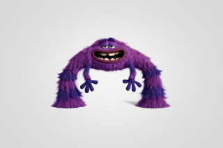 Monsters University, Art, Purple Furry Monster - Obrázkek zdarma pro 1366x768