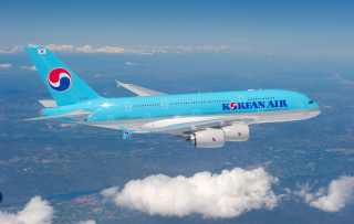 Korean Air flight Airbus Background for Android, iPhone and iPad