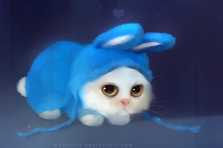 Cute Bunny Illustration Wallpaper for Android, iPhone and iPad