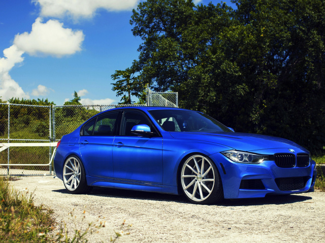 Screenshot №1 pro téma BMW F30 335i M Sport with Vossen CVT 640x480