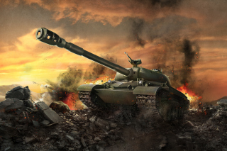 World of tanks - WZ 111 Wallpaper for Android, iPhone and iPad