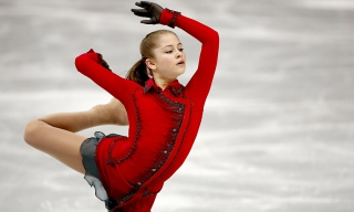 Yulia Lipnitskaya Champion In Sochi 2014 Winter Olympics Background for Android, iPhone and iPad