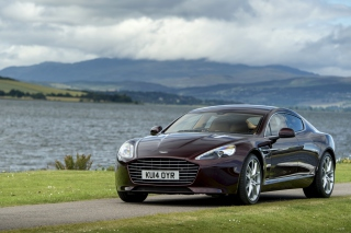 Aston Martin Rapide S on Coast Wallpaper for Samsung Galaxy Note 4