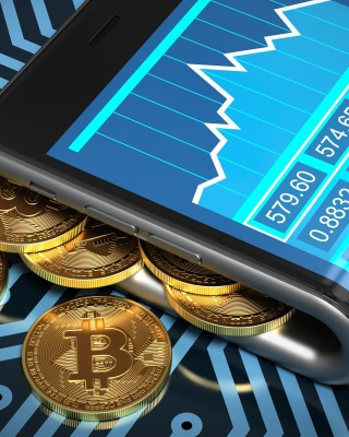 Bitcoin Smartphone Wallpaper for Nokia Asha 306