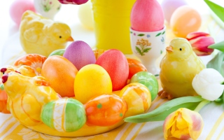 Colorful Easter Background for Android, iPhone and iPad
