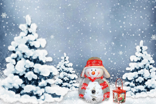 Free Frosty Snowman for Xmas Picture for Android, iPhone and iPad